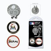 Team Golf Miami Marlins Cap Clip & Magnetic Ball Markers