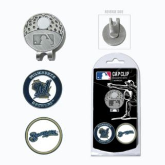 Team Golf Milwaukee Brewers Cap Clip & Magnetic Ball Markers