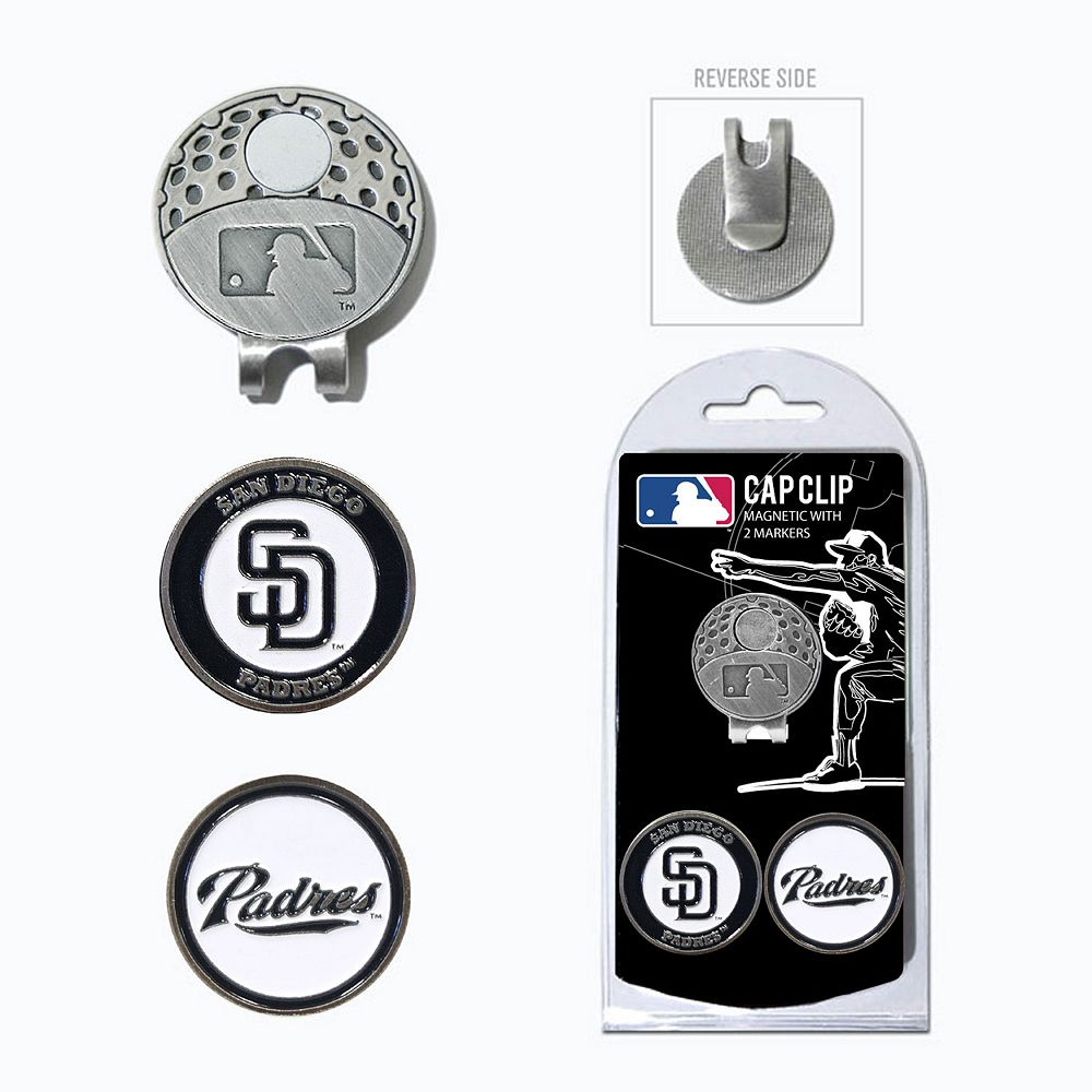 Team Golf San Diego Padres Cap Clip & Magnetic Ball Markers