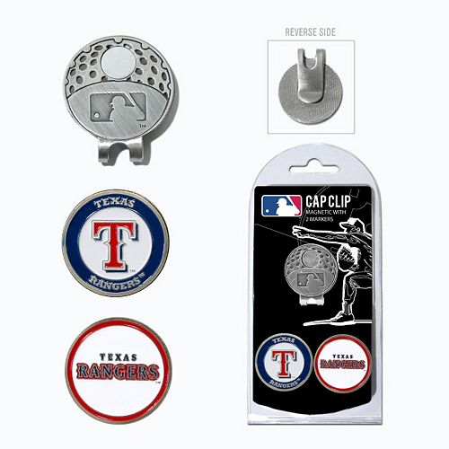 Team Golf Texas Rangers Cap Clip & Magnetic Ball Markers