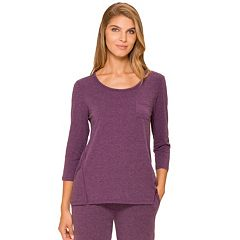 Women's Cuddl Duds Pajamas: Essentials Pajama Top
