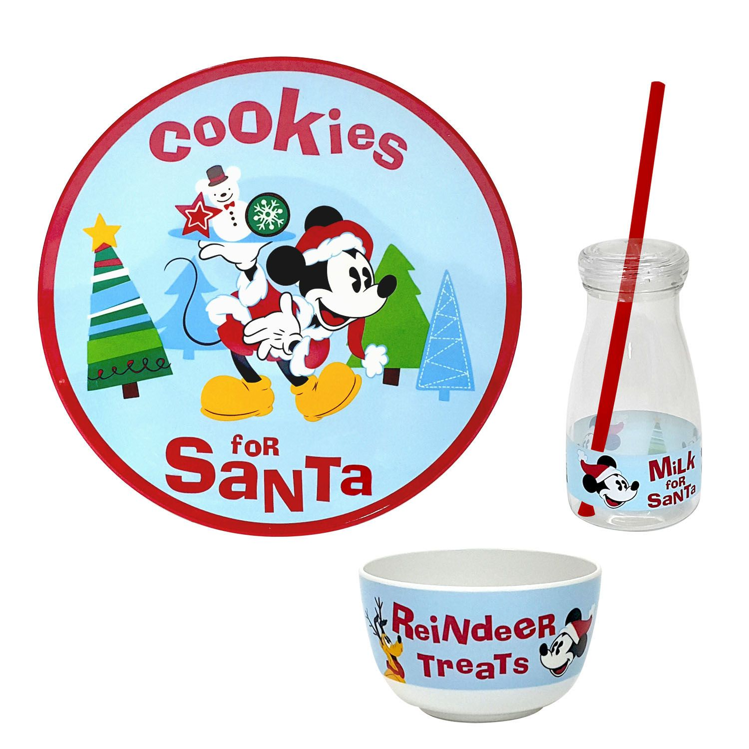 Plate Set. Disney Mickey Mouse  Cookies for Santa  3-pc.  sc 1 st  Kohlu0027s & Disney Mickey Mouse