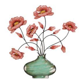 Flowers in a Swirl Vase Wall Decor