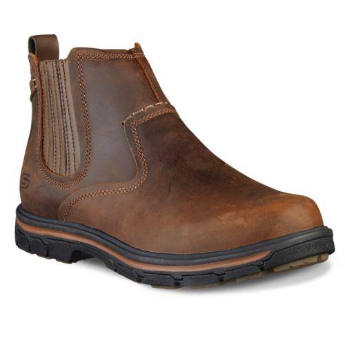 Skechers Relaxed Fit Segment ... Dorton Men's Slip-On Ankle Boots