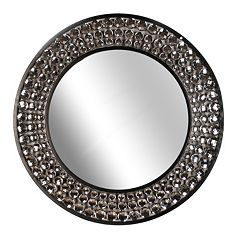 Round Jeweled Wall Mirror