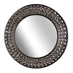 Round Jeweled Wall Mirror
