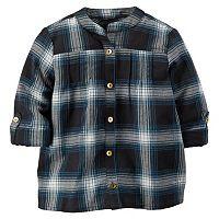 Girls 4-8 Carter's Sparkle Flannel Button-Down Shirt
