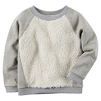 Girls 4-8 Carter's Sherpa Sweatshirt