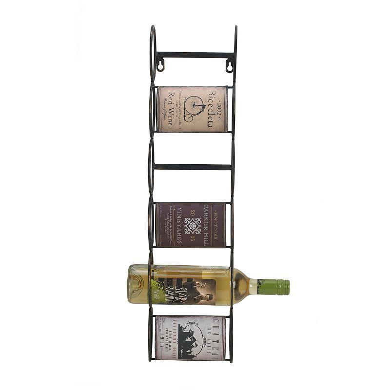 Elements Vintage Metal Wine Rack, Multicolor