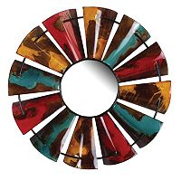 Fluid Color Design Windmill Wall Mirror