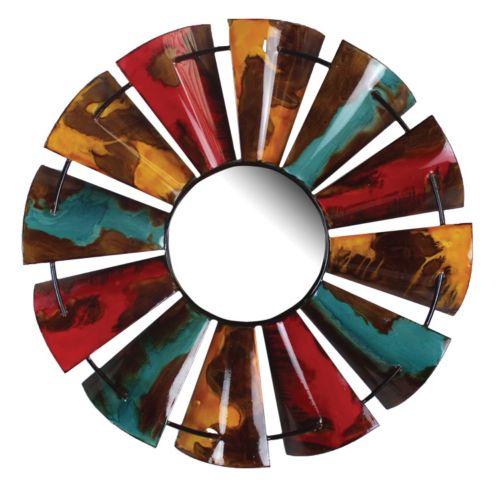 Fluid Color Design Windmill Wall Mirror