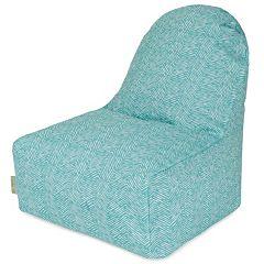 Majestic Home Goods Herringbone Indoor Outdoor Kick-It Chair