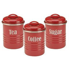 Typhoon Vintage Kitchen 3 pc Stainless Steel Canister Set