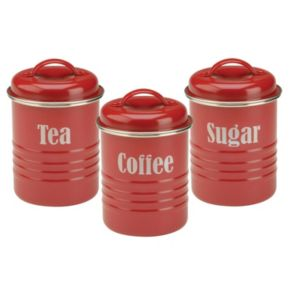 Typhoon Vintage Kitchen 3-pc. Stainless Steel Canister Set
