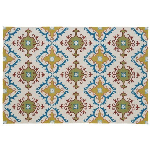 Kaleen Home and Porch Fiesta Tile Indoor Outdoor Rug