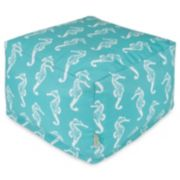 Majestic Home Goods Seahorse Indoor Outdoor Large Ottoman