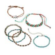 Mudd® Elephant & Bead Braided Slipknot & Stretch Bracelet Set