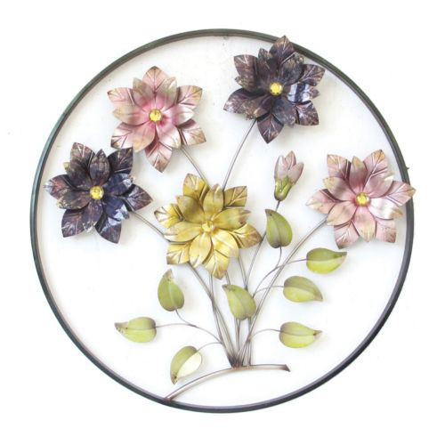 Flowers Circle Wall Decor
