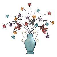 Flowers & Butterflies Vase Wall Decor