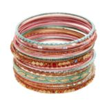 Mudd® Textured & Glittery Bangle Bracelet Set