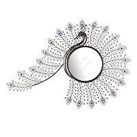 Jeweled Peacock Wall Mirror