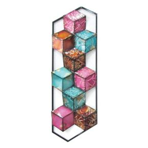 Colorful Multi Cubes Wall Decor