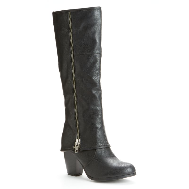 kisses by 2 lit s hooded knee high boots