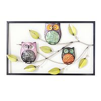 Owls On A Branch Wall Decor