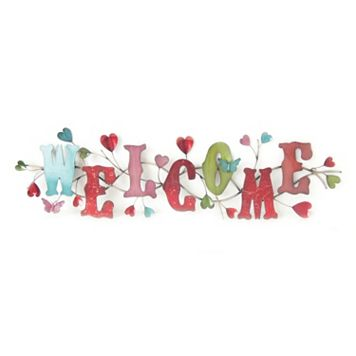 LED ''Welcome'' Wall Decor