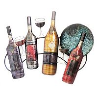 Wine Bottle & Glass Wall Decor