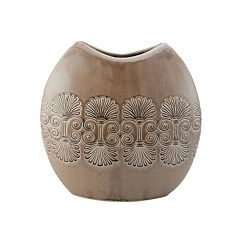 Elements Large Round Ceramic Crackle Vase