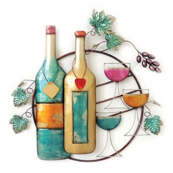 Wine Bottle & Glass II Wall Decor