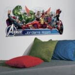 Marvel Avengers Assemble Personalized Headboard Peel & Stick Wall Decals