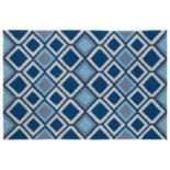 Kaleen Home & Porch Blue Diamond Indoor Outdoor Rug
