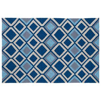 Kaleen Home & Porch Blue Diamond Indoor Outdoor Rug