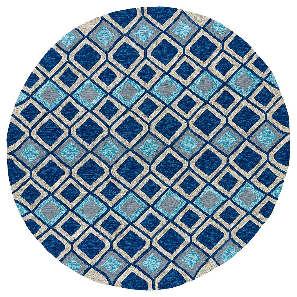 Kaleen Home and Porch Blue Diamond Indoor Outdoor Rug