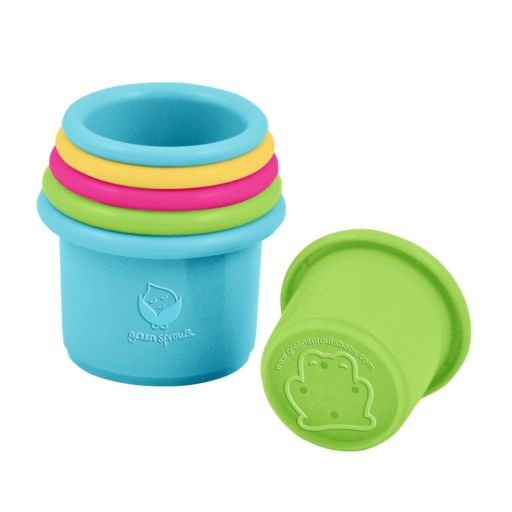 Green Sprouts by i play. Bio-based Stacking Cups