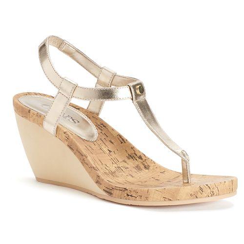 85ecdf1ffbe4 Chaps Raevyn Women s Slip-On Wedge Sandals