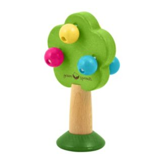 Green Sprouts by i play. Natural Wood Tree Rattle