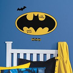 Batman Logo Dry Erase Peel & Stick Giant Wall Decals