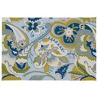 Kaleen Home & Porch Floral Paisley Indoor Outdoor Rug