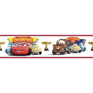 Disney / Pixar Cars ''Piston Cup Champion'' Peel & Stick Border Wall Decal