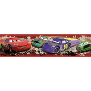 Disney / Pixar Cars ''Piston Cup Racing'' Peel & Stick Border Wall Decal