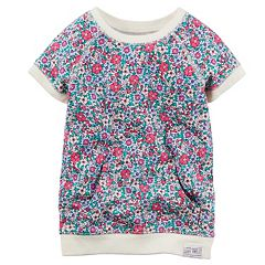 Girls 4-8 Carter's Floral French Terry Tunic