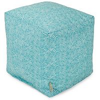 Majestic Home Goods Herringbone Indoor Outdoor Small Cube Ottoman