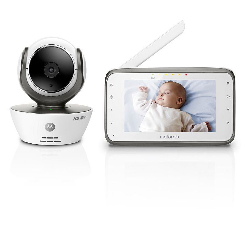 motorola mbp854 connect hd wi fi video baby monitor white. Black Bedroom Furniture Sets. Home Design Ideas