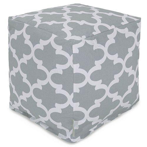 Majestic Home Goods Trellis Indoor Outdoor Small Cube Ottoman