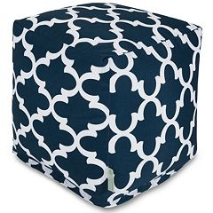 Majestic Home Goods Trellis Indoor Outdoor Small Cube Ottoman