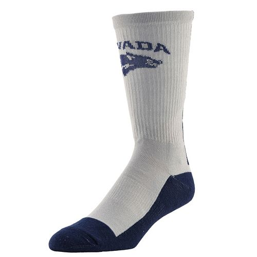 Women's Mojo Nevada Wolf Pack Champ 1/2-Cushion Performance Crew Socks