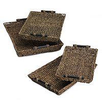 Seagrass 4-piece Nesting Tray Set